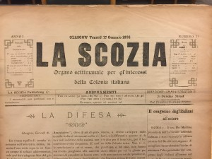 Issue 1 of La Scozia Jan 17th 1908