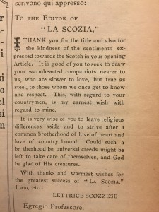 Letter from a Scotswoman